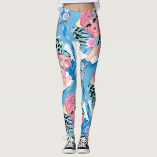 BLUE FAIRIE CUTE LEGGINGS