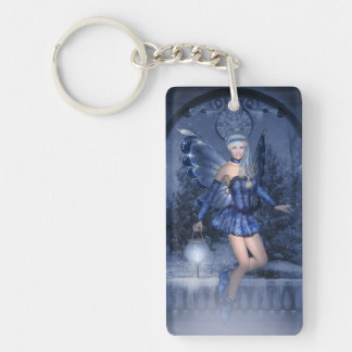 Blue fairy and lamplighter keychain