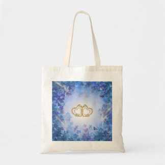 Blue Fairy Bag gold hearts