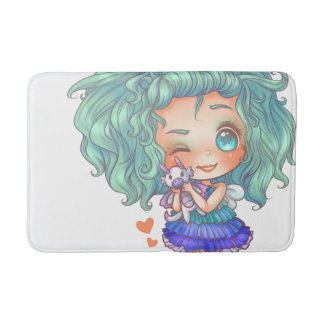 Blue Fairy Bath Mat