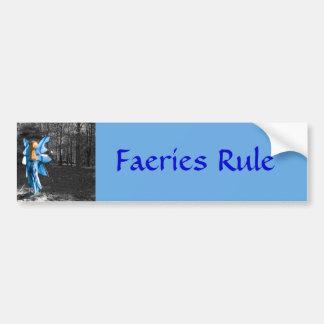 Blue Fairy, Faeries Rule Bumper Sticker