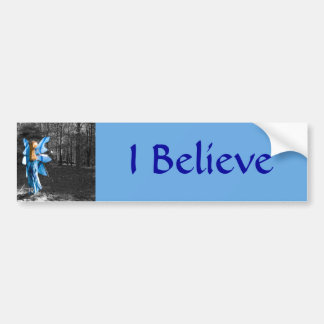 Blue Fairy, I Believe Bumper Sticker