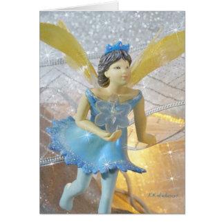 Blue fairy running II card