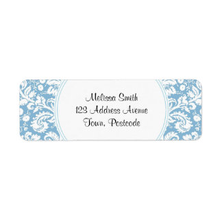 Blue fancy damask pattern