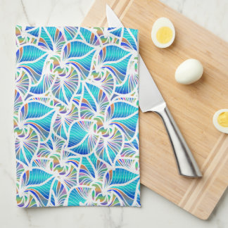 Blue Fantasies Kitchen Towel