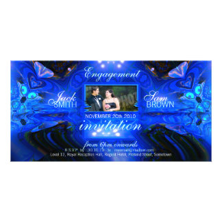 Blue Fantasy Invitation Photo Card