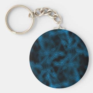 Blue fantasy pattern keychain