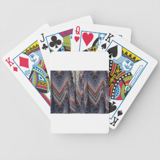 Blue Fashion Fabric Dress pattern template diy fun Bicycle Playing Cards