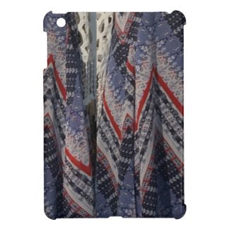 Blue Fashion Fabric Dress pattern template diy fun iPad Mini Covers