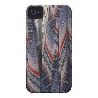 Blue Fashion Fabric Dress pattern template diy fun iPhone 4 Case