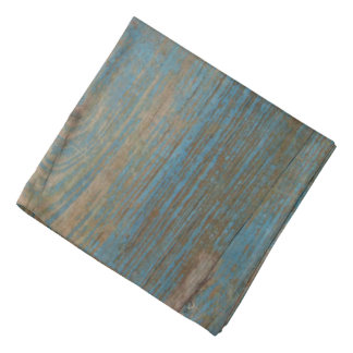 Blue Faux Beach Wood Texture Bandana
