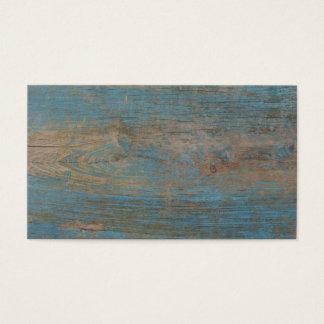 Blue Faux Beach Wood Texture Business Card