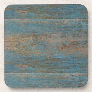 Blue Faux Beach Wood Texture Coaster