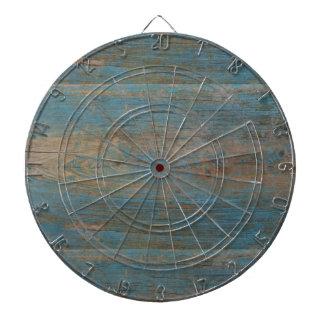 Blue Faux Beach Wood Texture Dartboard