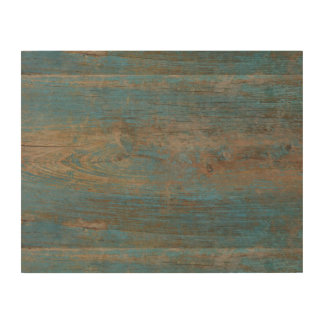 Blue Faux Beach Wood Texture Wood Prints