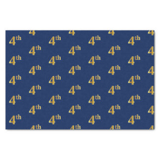 Blue, Faux Gold 4th (Fourth) Event Tissue Paper