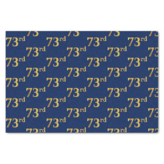 Blue, Faux Gold 73rd (Seventy-Third) Event Tissue Paper