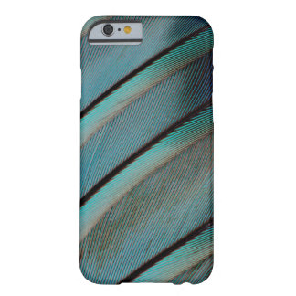 Blue feather pattern barely there iPhone 6 case