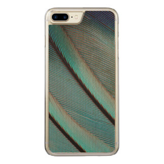 Blue feather pattern carved iPhone 7 plus case