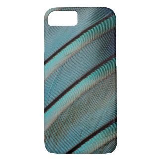 Blue feather pattern iPhone 7 case