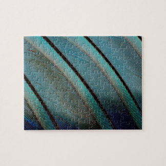 Blue feather pattern jigsaw puzzle