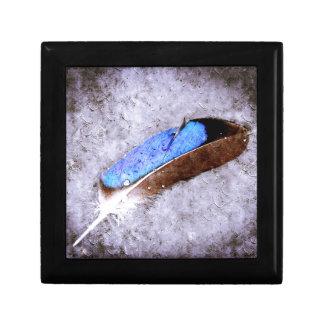 Blue Feather Trinket Box