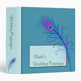 Blue Feather Wedding Binder