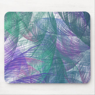 Blue Feathers Mousepad