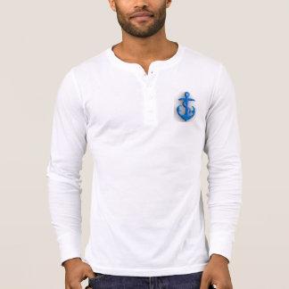 Blue Felt Anchor T-Shirt