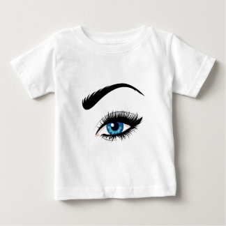 Blue Female Eye Baby T-Shirt