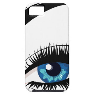 Blue Female Eye Case For The iPhone 5
