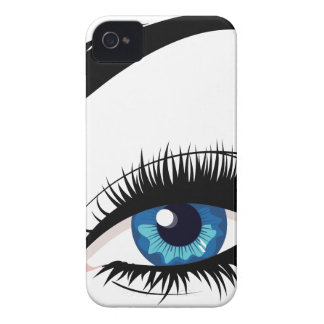 Blue Female Eye Case-Mate iPhone 4 Cases