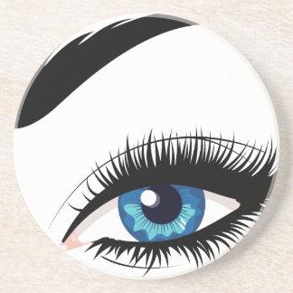 Blue Female Eye Coaster