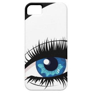 Blue Female Eye iPhone 5 Case