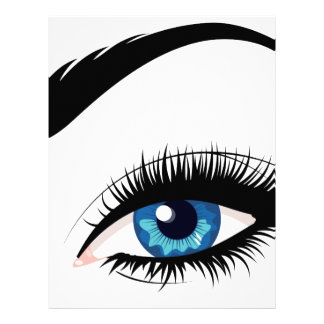 Blue Female Eye Letterhead