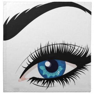 Blue Female Eye Napkin
