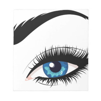 Blue Female Eye Notepads