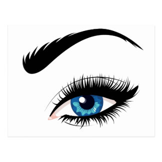Blue Female Eye Postcard