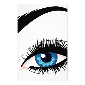 Blue Female Eye Stationery