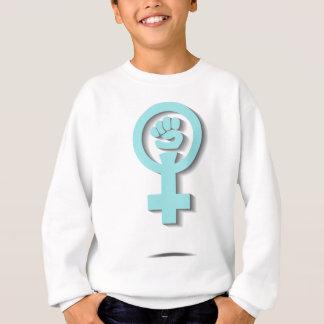 Blue feminist venus mirror sign design sweatshirt