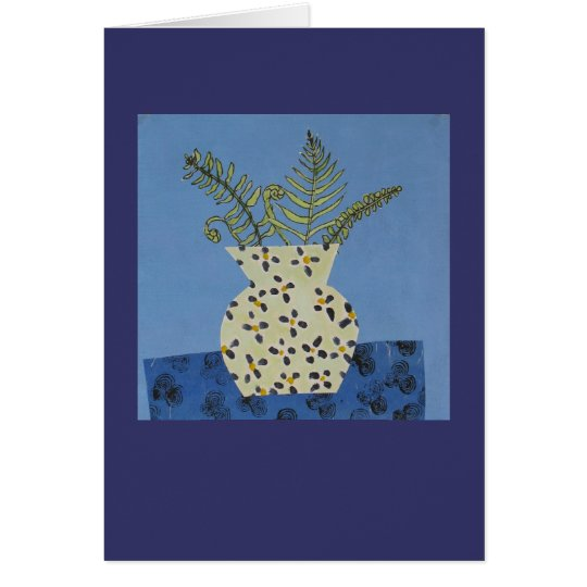Blue fern card