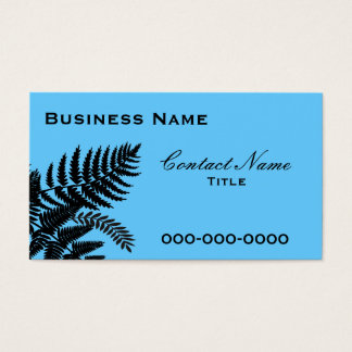 Blue Fern Leaves Business Card