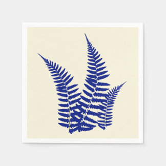 Blue Fern Paper Napkin