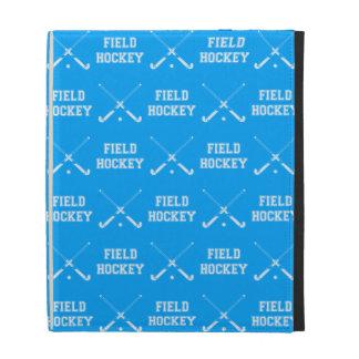 Blue Field Hockey iPad Folio Case