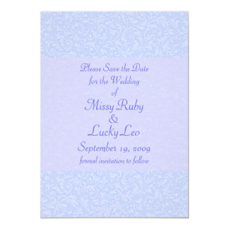 Blue Filigree & Lace Save the Date Announcement
