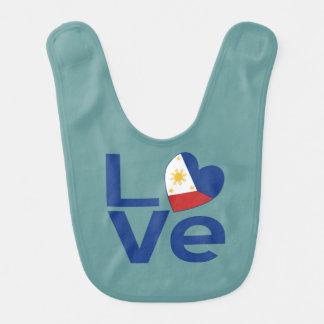 Blue Filipino LOVE Bib