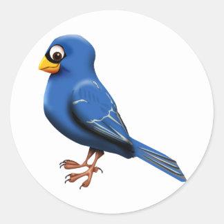 Blue Finch Classic Round Sticker
