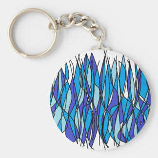 blue fire keychain