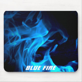 Blue Fire Mouse Pad
