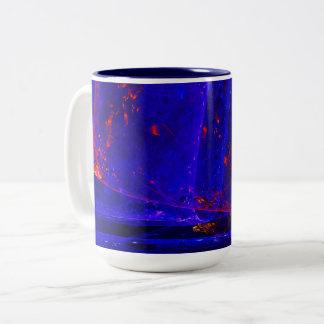 ☼BLUE FIRE OPAL☼ Two-Tone COFFEE MUG